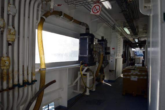 Pompe CUFES à bord du Thalassa