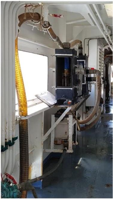 Installation du CUFES sur le navire Thalassa