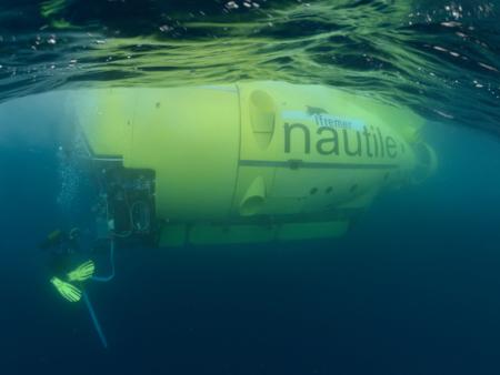 Le nautile sous l'eau